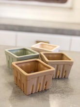 Load image into Gallery viewer, Square Stoneware Berry Bowls