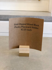 Gold Dipped Photo Holder