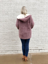 Load image into Gallery viewer, Plum Faux Fur Hoodie