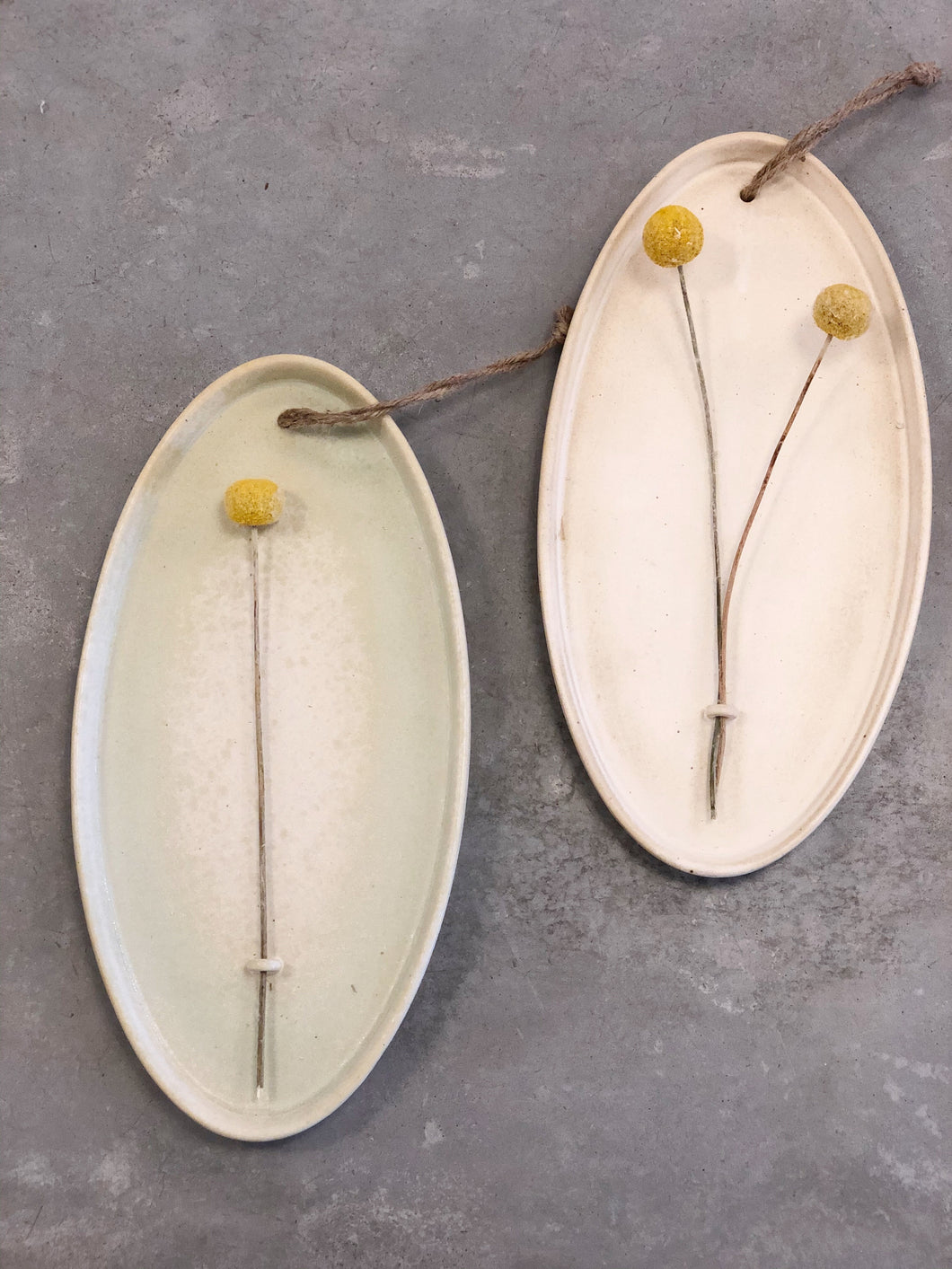 Hanging Stoneware Dried Flower Holder