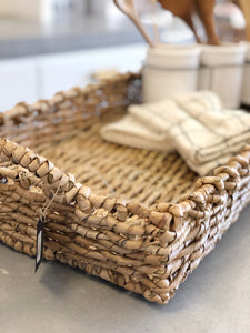 Rectangle Wicker Tray