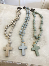 Load image into Gallery viewer, Wood Bead Rosary