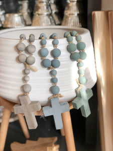 Wood Bead Rosary