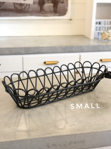 Scalloped Metal Plant Basket