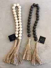 Load image into Gallery viewer, Wood Beads with Tassel