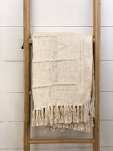 Load image into Gallery viewer, Cream Cotton Chenille Throw