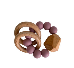 Silicone & Wood Teether