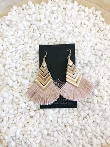 Gold Arrow Fringe Earring