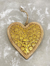 Load image into Gallery viewer, Hand Carved Wood Heart