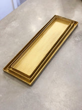 Load image into Gallery viewer, Gold Textured Metal Tray