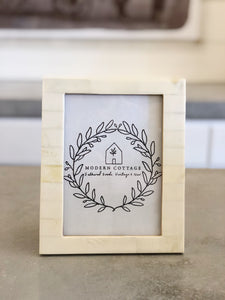 Ivory Resin Photo Frame