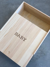 Load image into Gallery viewer, Wood Baby Keepsake Box