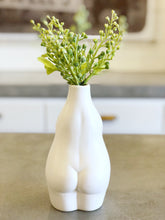Load image into Gallery viewer, White Stoneware Body Vase