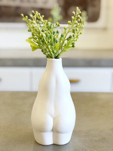 White Stoneware Body Vase