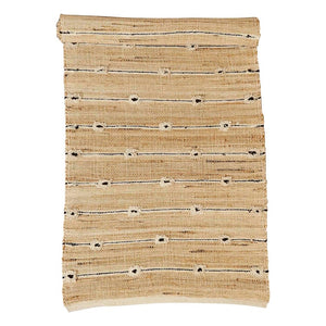 B&W Tufted Jute Runner Rug