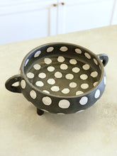 Load image into Gallery viewer, B&W Polka Dot Bowl