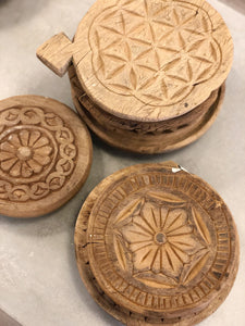 Vintage Hand Carved Indian Bread Boards