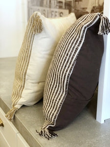 Striped Cotton Euro Pillow