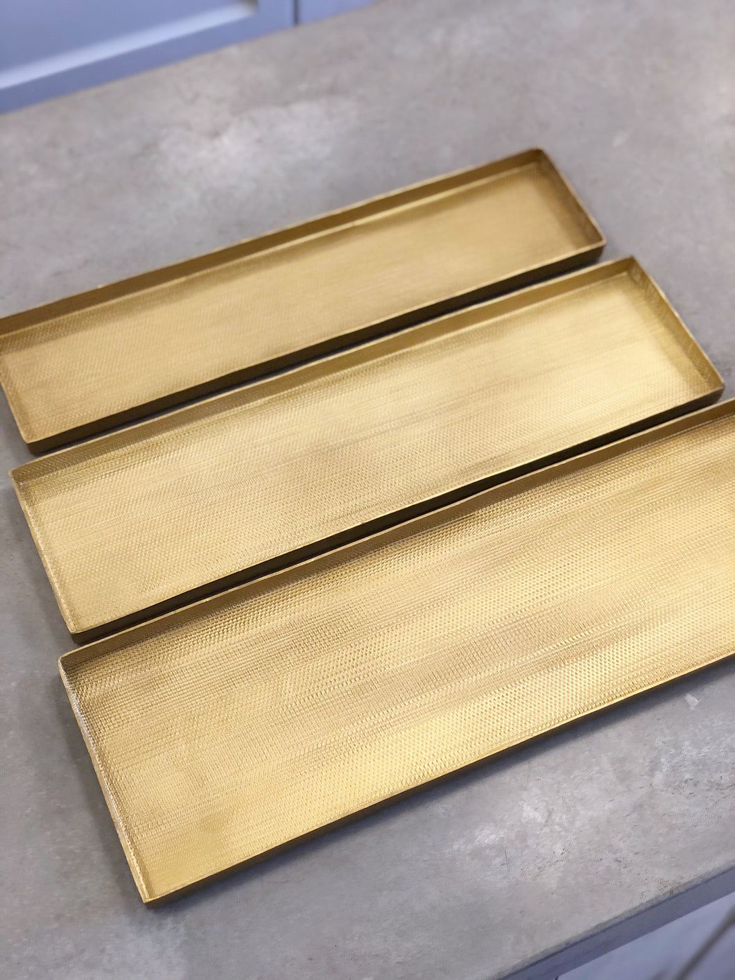 Gold Textured Metal Tray