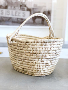 Oval Kansgrass Basket w/ Handle