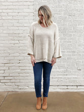 Load image into Gallery viewer, Oatmeal Knitted Boxy Sweater