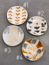 Load image into Gallery viewer, Mini Floral Hand Painted Stoneware Plates