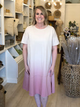 Load image into Gallery viewer, Pink Ombre T-shirt Dress