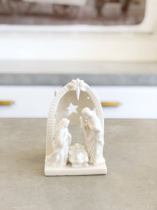 White Stoneware Nativity
