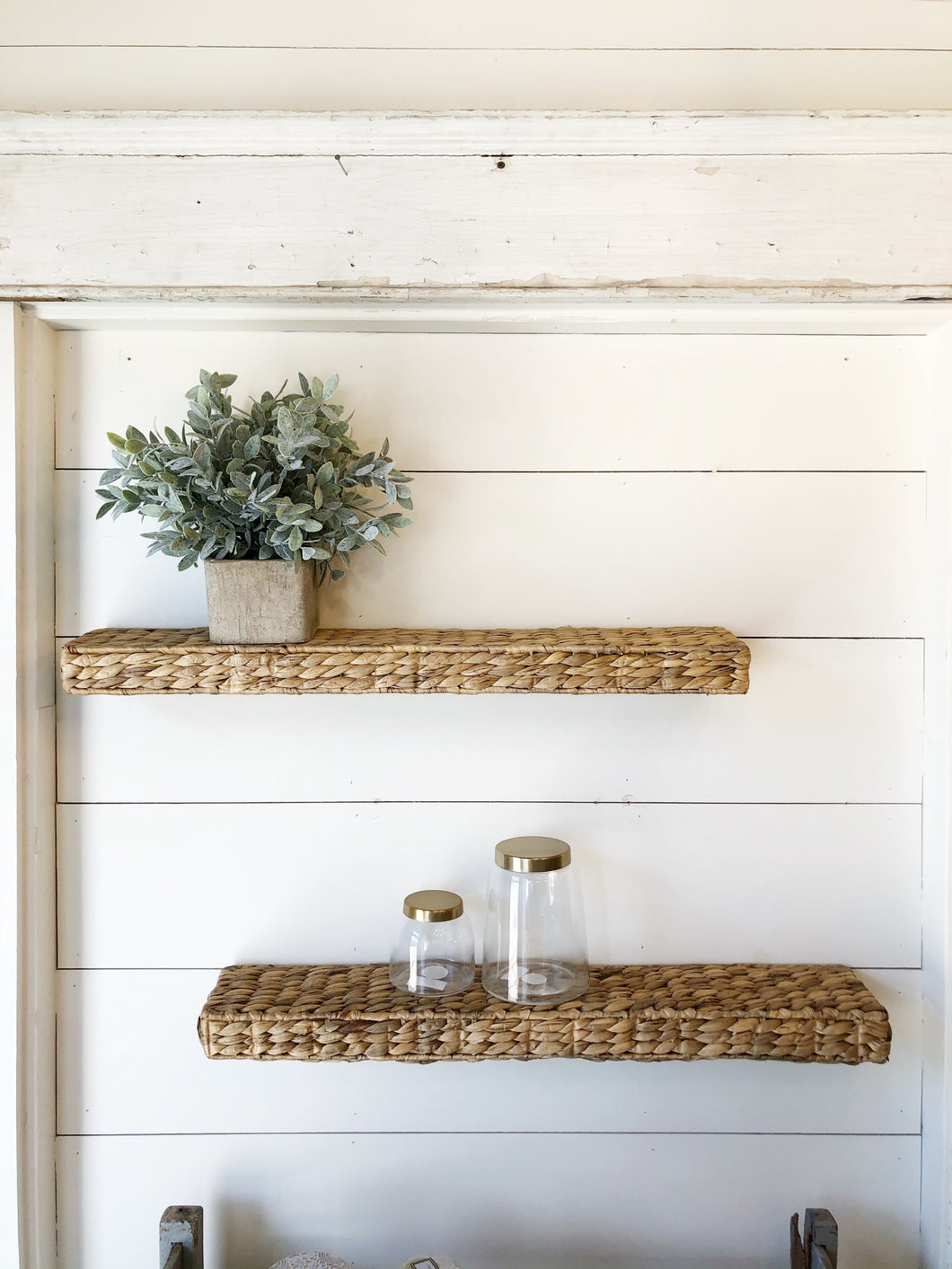 Water Hyacinth Wall Shelf