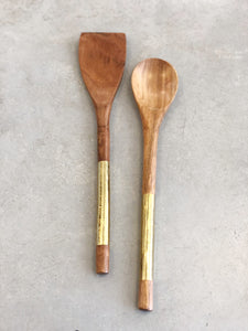 Acacia Wood Serving Spoon and Spatula Set