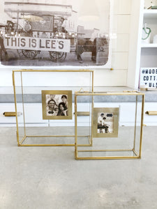 Brass and Glass Shadow Box