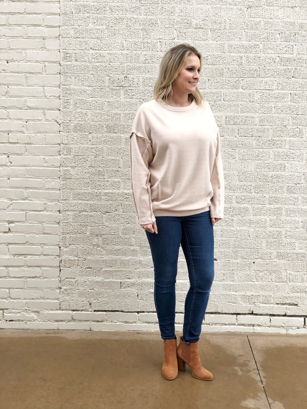 Brushed Nude Pullover