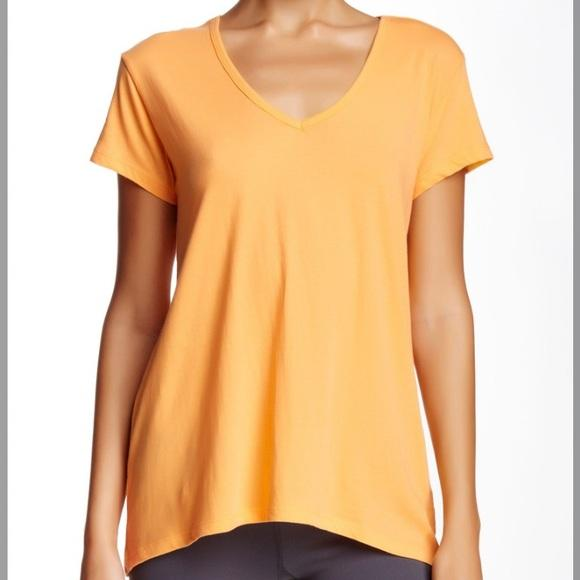 Satva Basic V-Neck Tee Shirt in Mock Orange - Meadow and Berry