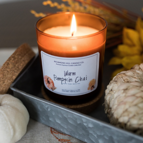 Warm Pumpkin Chai Soy Candle
