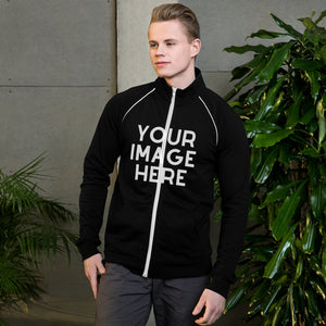 Open image in slideshow, Design Your Own Piped Fleece Jacket