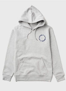 "Hoodie ""Life is better at the lake"" - Grau mit blauen Druck - Unisex"