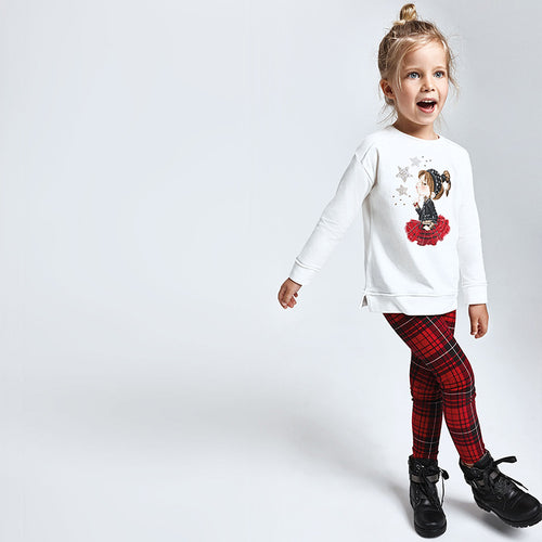 Completo leggings quadri Bambina Mayoral - Bimbo Mix Figline
