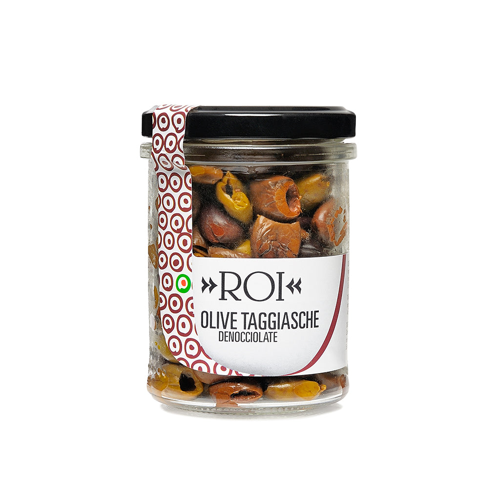 Roi - Taggische PITTED Olives DRY CURED OR IN EXTRA VIRGIN OLIVE OIL - 100g/2.7 KG