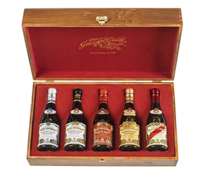 Giusti - Selection of 5 x 250ml in Wooden Box
