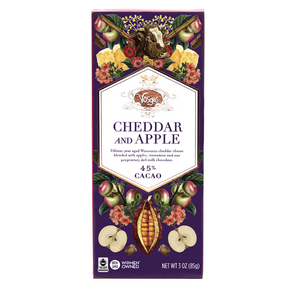 Vosges - Cheddar and Apple Chocolate Bar - 85g