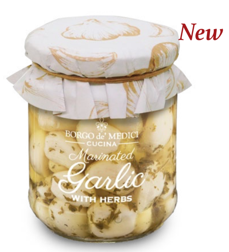 Borgo de Medici - Marinated Garlic with Herbs in Oil - 180g