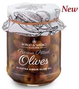 Borgo de Medici - Riviera Pitted Olives in Extra Virgin Olive Oil - 180g