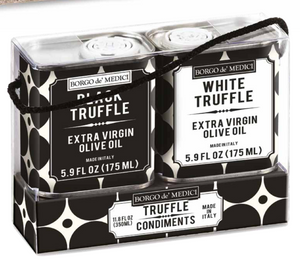 Borgo de Medici - Duetto Black / White Truffle EVOO in Tins - 2x175ml