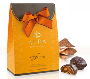 Alda - Fichi farciti - Stuffed figs covered with dark chocolate - Various types