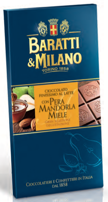 Baratti & Milano - Pear Almond Honey Milk Chocolate - 75g