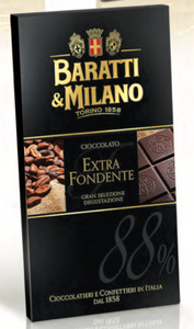 Baratti & Milano - Extra Dark Chocolate 88% Bar - 75g