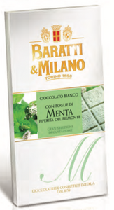 Baratti & Milano - White Chocolate Mint Bars - 75g
