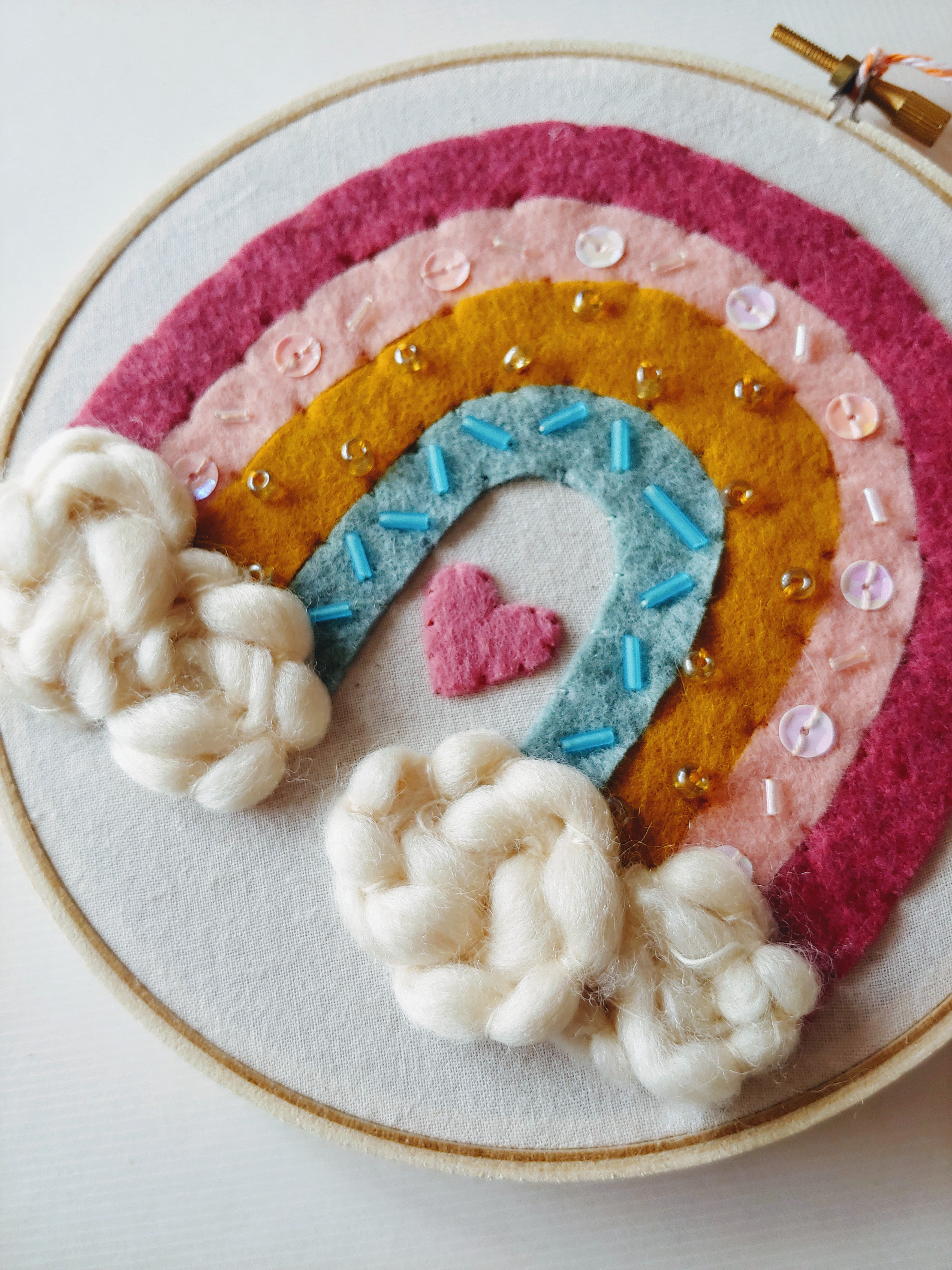 Embroidery Hoop - Rainbow