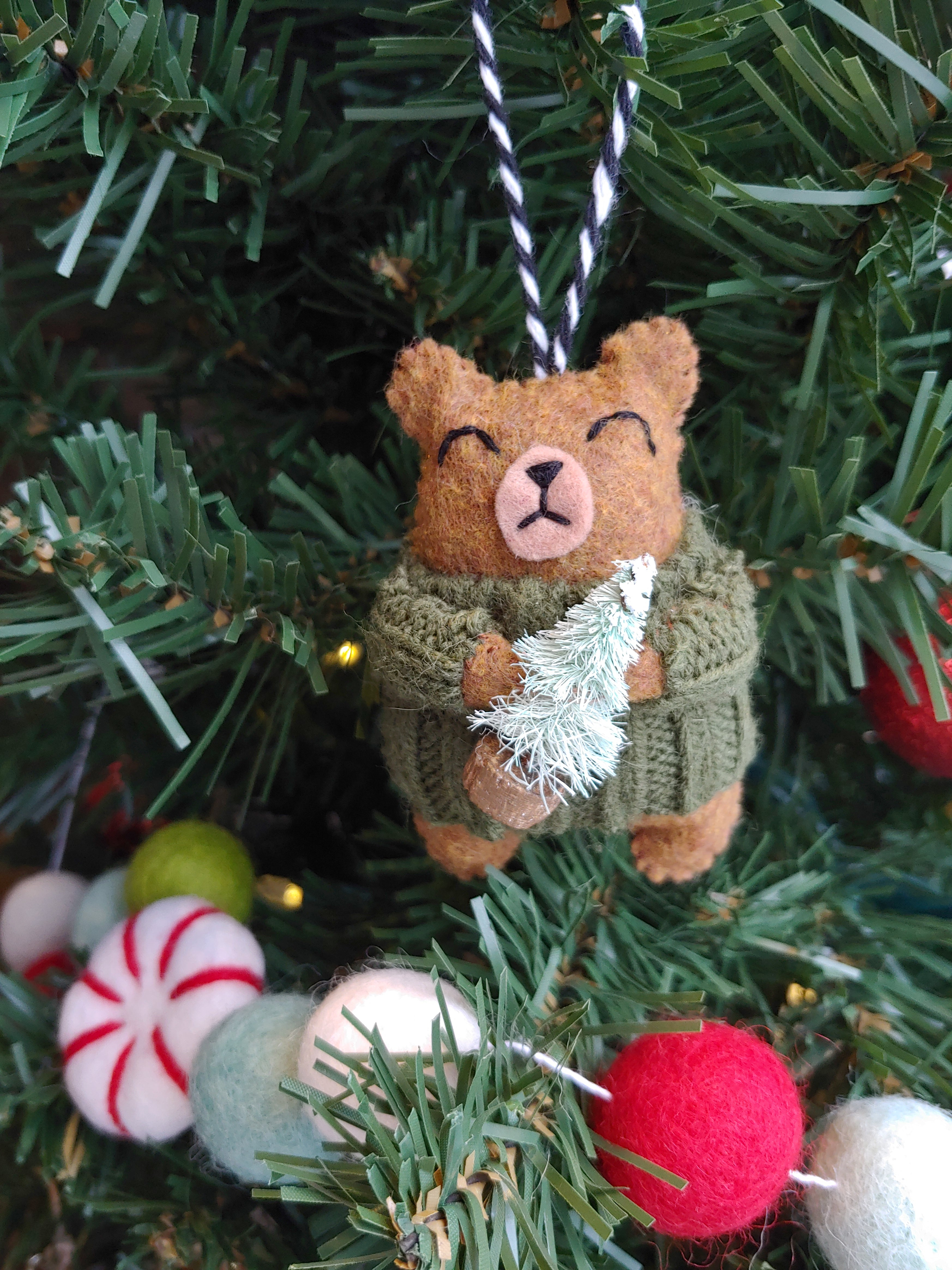 Cozy Bear Ornament
