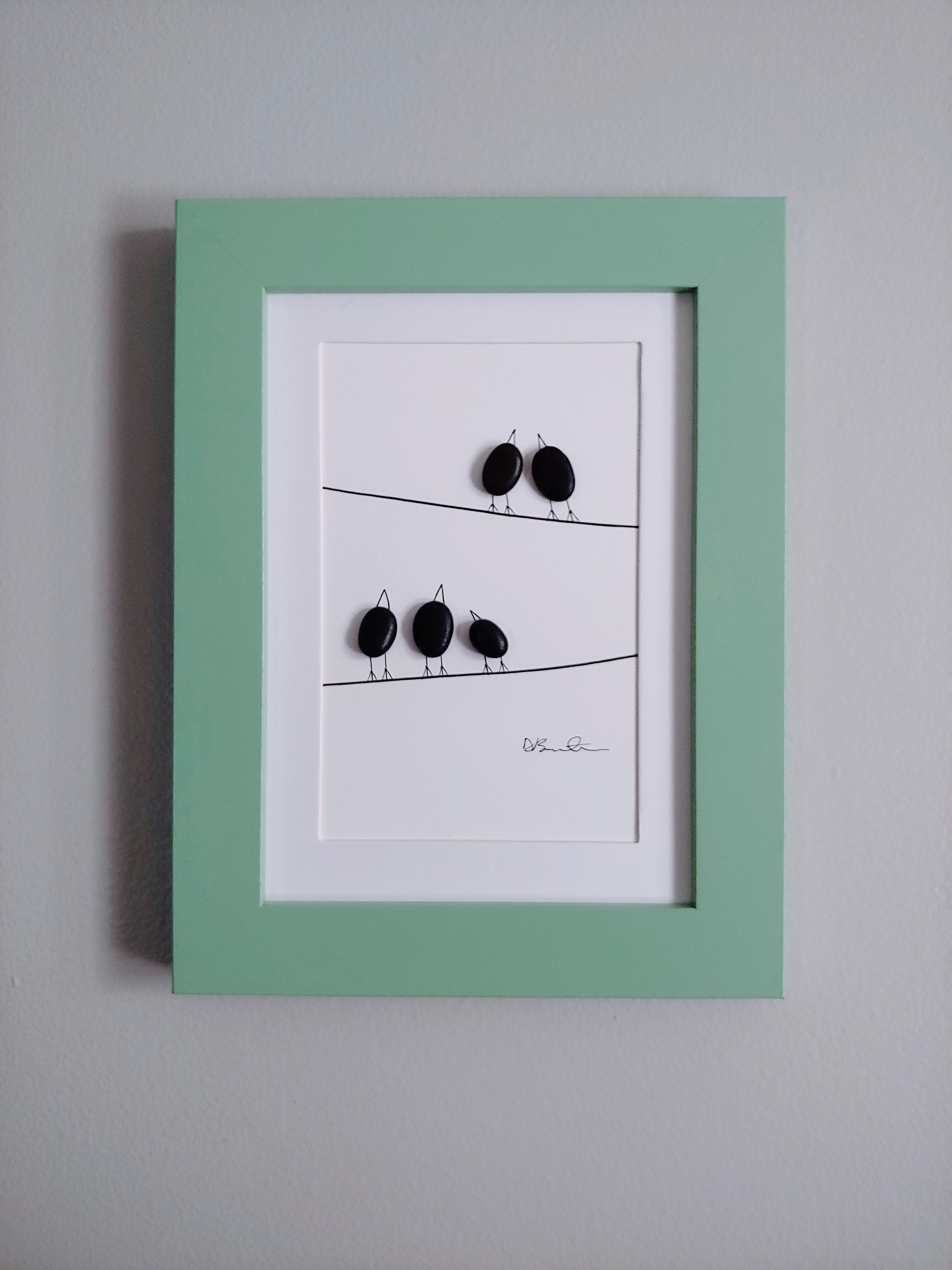"Pebble Art ""Party of Five"""